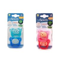 Dr. Brown's - Pack Duplo Chupete Prevent Nocturno T2 6-18 Meses