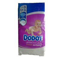 DODOT PAÑAL INFANTIL PROTECTION PLUS ACTIVITY T- 3 06-10 KG 56 UNIDADES