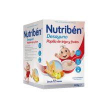 NUTRIBEN DESAYUNO PAPILLA DE TRIGO CON FRUTA 600 G